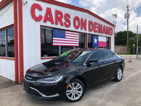 2016 Chrysler 200 for sale at Cars On Demand 2 in Pasadena TX