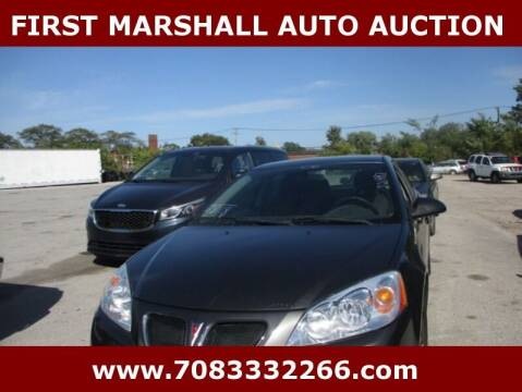 2006 Pontiac G6 for sale at First Marshall Auto Auction in Harvey IL