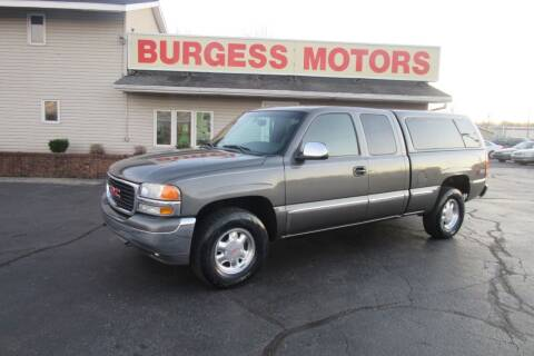 2002 GMC Sierra 1500 for sale at Burgess Motors Inc in Michigan City IN