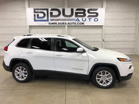 2017 Jeep Cherokee for sale at DUBS AUTO LLC in Clearfield UT