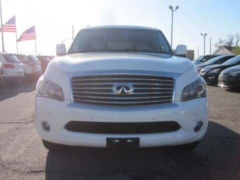 2014 Infiniti QX80 for sale at T & D Motor Company in Bethany OK