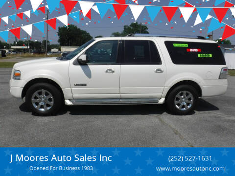 2008 Ford Expedition EL for sale at J Moores Auto Sales Inc in Kinston NC