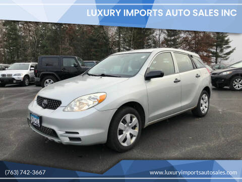 2003 Toyota Matrix for sale at LUXURY IMPORTS AUTO SALES INC in North Branch MN