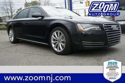 2012 Audi A8 L for sale at Zoom Auto Group in Parsippany NJ