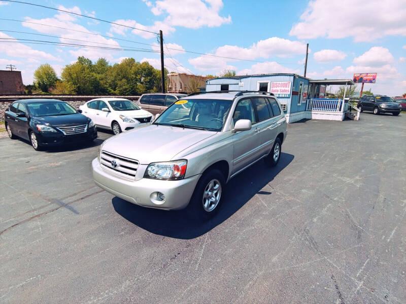 2004 Toyota Highlander for sale at DISCOUNT AUTO SALES in Murfreesboro TN