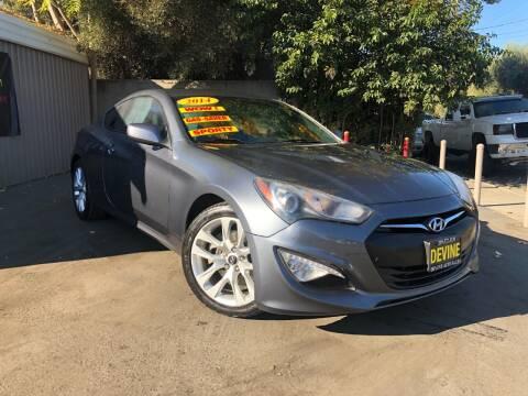 2014 Hyundai Genesis Coupe for sale at Devine Auto Sales in Modesto CA
