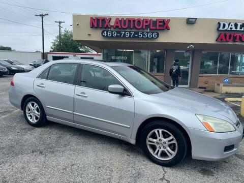 2006 Honda Accord for sale at NTX Autoplex in Garland TX