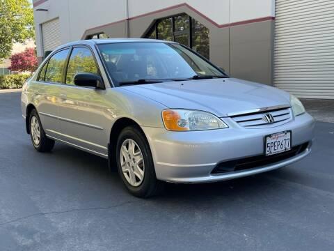 2003 Honda Civic for sale at COUNTY AUTO SALES in Rocklin CA