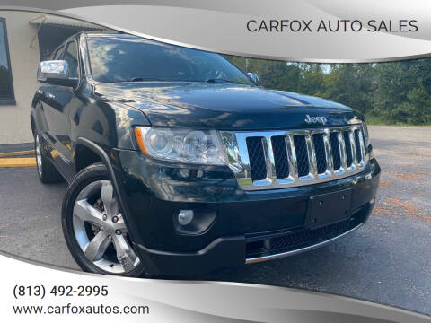 2013 Jeep Grand Cherokee for sale at Carfox Auto Sales in Tampa FL