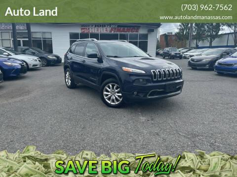 2015 Jeep Cherokee for sale at Auto Land in Manassas VA