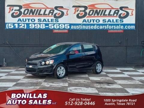 2015 Chevrolet Sonic for sale at Bonillas Auto Sales in Austin TX