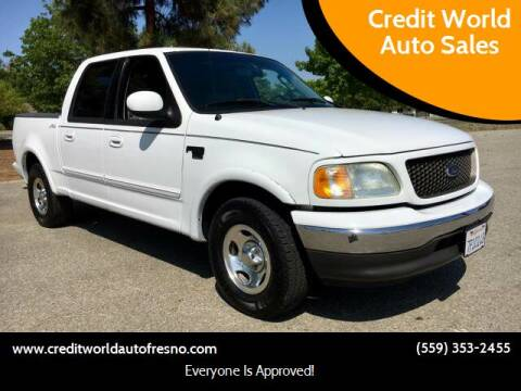 2002 Ford F-150 for sale at Credit World Auto Sales in Fresno CA