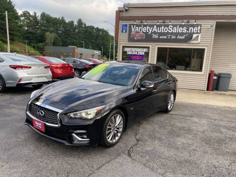2018 Infiniti Q50 for sale at Variety Auto Sales in Worcester MA