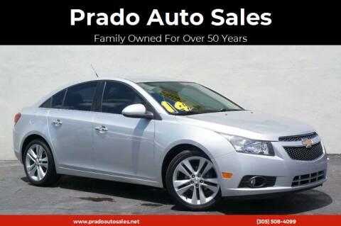 2014 Chevrolet Cruze for sale at Prado Auto Sales in Miami FL