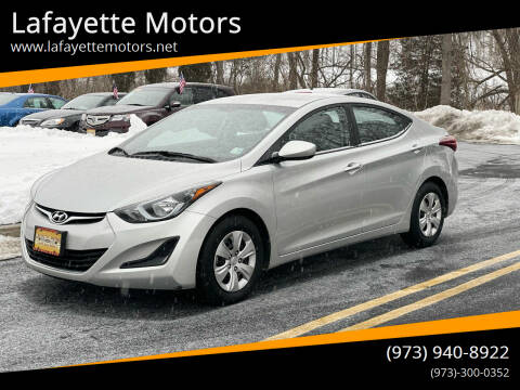 2016 Hyundai Elantra for sale at Lafayette Motors 2 in Andover NJ