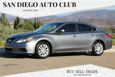 2016 Nissan Altima for sale at San Diego Auto Club in Spring Valley CA