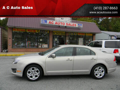 2010 Ford Fusion for sale at A C Auto Sales in Elkton MD