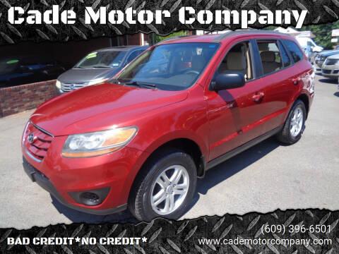 2011 Hyundai Santa Fe for sale at Cade Motor Company in Lawrence Township NJ