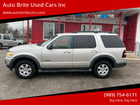 2007 Ford Explorer for sale at Auto Brite Used Cars Inc in Saginaw MI