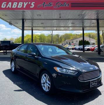 2015 Ford Fusion for sale at GABBY'S AUTO SALES in Valparaiso IN