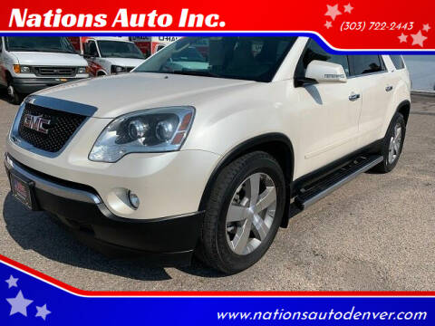 2011 GMC Acadia for sale at Nations Auto Inc. in Denver CO