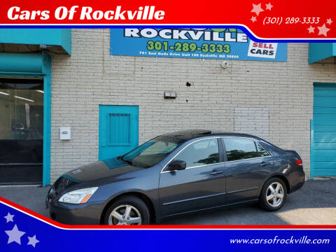2003 Honda Accord for sale at Cars Of Rockville in Rockville MD