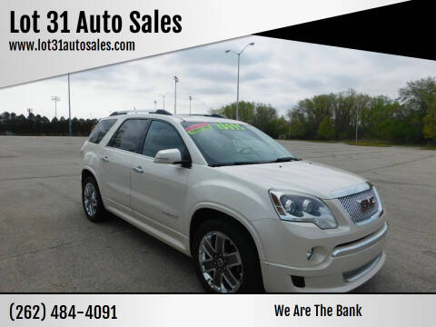 2012 GMC Acadia for sale at Lot 31 Auto Sales in Kenosha WI