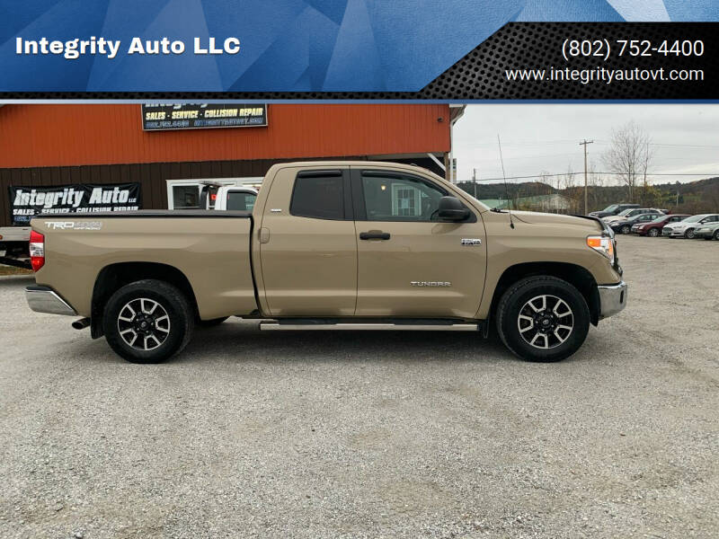 2017 Toyota Tundra for sale at Integrity Auto LLC - Integrity Auto 2.0 in St. Albans VT