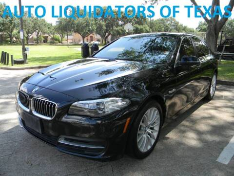 2014 BMW 5 Series for sale at AUTO LIQUIDATORS OF TEXAS in Richmond TX