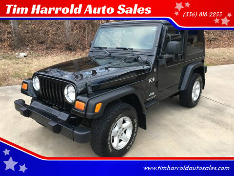 2004 Jeep Wrangler for sale at Tim Harrold Auto Sales in Wilkesboro NC