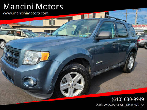 2011 Ford Escape Hybrid for sale at Mancini Motors in Norristown PA