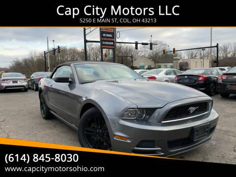 2013 Ford Mustang for sale at Cap City Motors LLC in Columbus OH