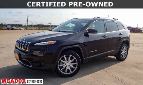 2018 Jeep Cherokee for sale at Meador Dodge Chrysler Jeep RAM in Fort Worth TX