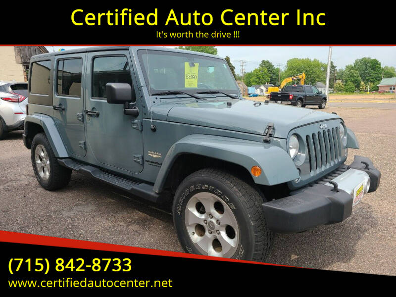 2014 Jeep Wrangler Unlimited for sale at Certified Auto Center Inc in Wausau WI