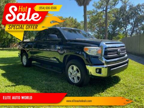 2014 Toyota Tundra for sale at ELITE AUTO WORLD in Fort Lauderdale FL