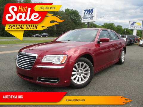 2013 Chrysler 300 for sale at AUTOTYM INC in Fredericksburg VA