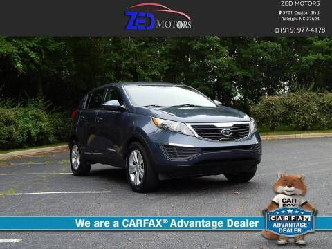 2012 Kia Sportage for sale at Zed Motors in Raleigh NC