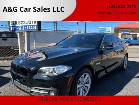 2015 BMW 5 Series for sale at A&G Car Sales  LLC in Tucson AZ