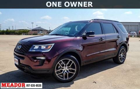 2018 Ford Explorer for sale at Meador Dodge Chrysler Jeep RAM in Fort Worth TX