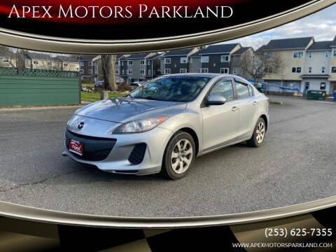 2013 Mazda MAZDA3 for sale at Apex Motors Parkland in Tacoma WA