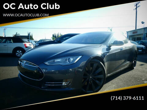 2015 Tesla Model S for sale at OC Auto Club in Midway City CA
