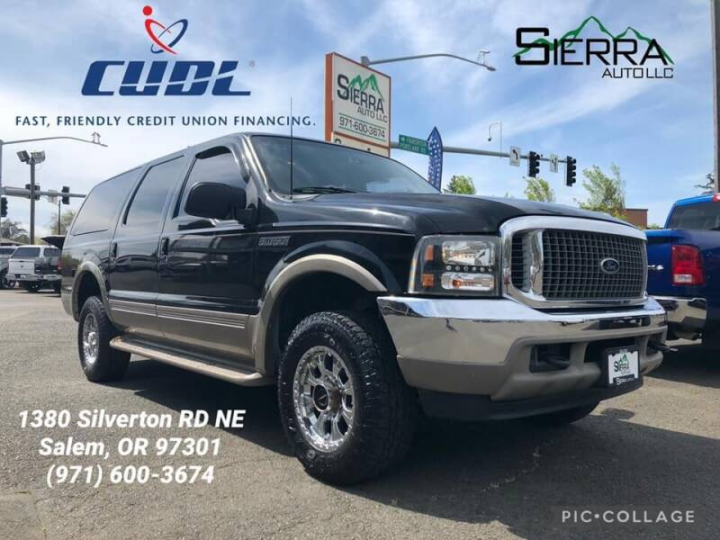2000 Ford Excursion for sale at SIERRA AUTO LLC in Salem OR