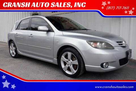 2006 Mazda MAZDA3 for sale at CRANSH AUTO SALES, INC in Arlington TX