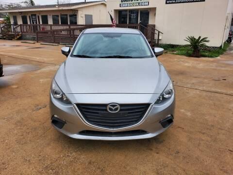 2016 Mazda MAZDA3 for sale at Zora Motors in Houston TX
