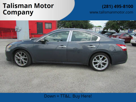 2011 Nissan Maxima for sale at Talisman Motor Company in Houston TX