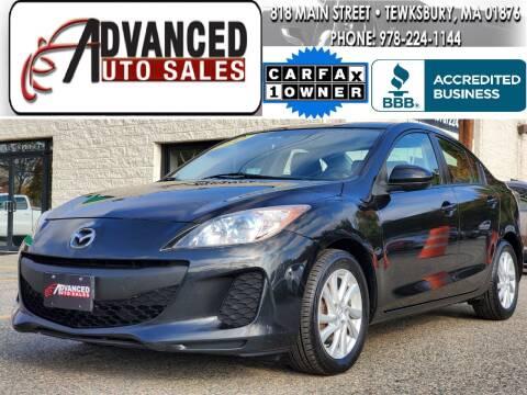 2012 Mazda MAZDA3 for sale at Advanced Auto Sales in Tewksbury MA