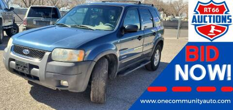 2001 Ford Escape for sale at One Community Auto LLC in Albuquerque NM