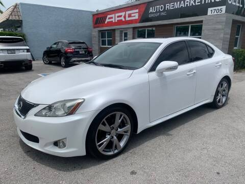 2010 Lexus IS 250 for sale at Auto Remarketing Group in Pompano Beach FL