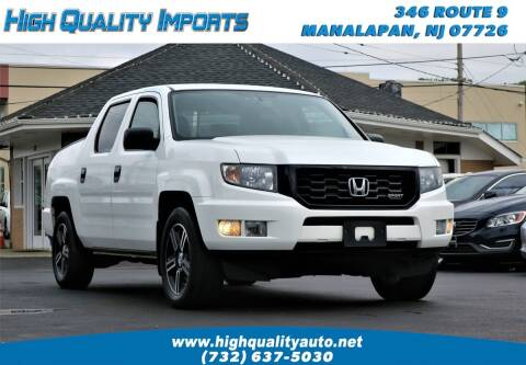 2013 Honda Ridgeline for sale at High Quality Imports in Manalapan NJ