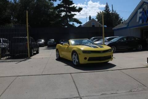 2015 Chevrolet Camaro for sale at F & M AUTO SALES in Detroit MI
